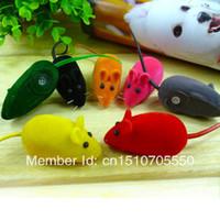 Оптовая свободная перевозка груза Squeaky Squeaker Звук Игрушка Chew ложных крысы мыши для Pet Cat Kitten Dog Puppy Игра j1ez