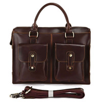 Wholesale New JMD Vintage Genuine Leather Stylish Men s Handbags Messenger Bag Cool Briefcase R