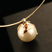 big pearl pendant - fashion necklaces for women big pearl vintage necklace long necklace choker pendant collares torquest gold statement accessories