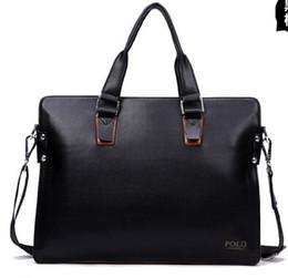 Wholesale-Men PU Leather business Bag Men travels bags Tote Designer Computer Laptop Handbag 2015 Men's briefcase business Shoulder