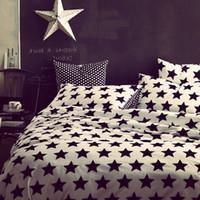 Cheap Special promotion! stripe print 4 PCS bedding set double bed quilt 100% cotton quilt cover bedsheets