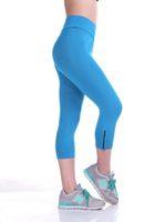 wholesale yoga pants - New spring high elasticity Colorful fitness clothing sportswear yoga gym for women Leggings pants capris cardio slim