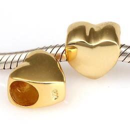 Venta al por mayor-Libre 100% 925 plata del grano de la joyería 18k chapado en oro corazón del amor gotea encanto pulseras brazaletes Fit SS1022-2 gold heart 925 bracelet for sale desde corazón del oro de la pulsera 925 proveedores