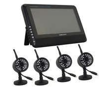 Wholesale 2 G CH QUAD DVR Security CCTV Camera System Digital Wireless Kit Baby Monitor quot TFT LCD Monitor Cameras VD C