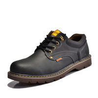 work boots - colors autumn winter dull polish Genuine leather big toe work boot man s tooling boots man outdoor size