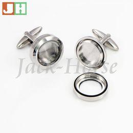 Wholesale-The most popular Waterproof cufflinks 316l stainless steel floating locket cufflink