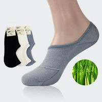 bamboo gel - Bamboo Low Cut No Show Footie Silicon Gel Nonslip Men s Loafer Socks