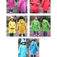 Wholesale Lovely Cute Kids Children Girl Boy Rain Coat Outwear Cartoon Hooded Waterproof Raincoat