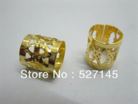 Wholesale Golden Plated Hair Dreadlock Bead Cuff Clip