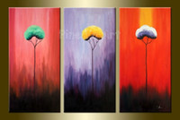 Cheap 3 panel abstract wall art cheap modern hand made canvas picture oil painting sets for living room office decoration