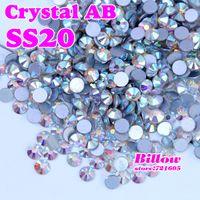 glue on nails - Crystal AB SS20 mm Flat Back Nail Art Glue On Rhinestones Non Hot fix CrystalsFor Fashion