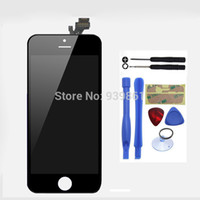 Cheap Wholesale-Free shipping,LCD Display and Touch Screen Replacement Digitizer Assembly Black For iPhone 5