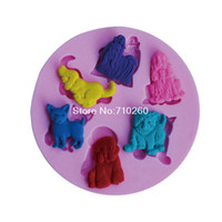 animal shaped candle - New Arrival animals shaped D silicone cake fondant mold cake decoration tools soap candle moulds