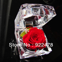 preserved flower - NEW cm Jewelry Set Box preserved flowers ring box rose girlfriend birthday Valentine s Day gift Specials