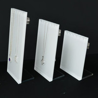 acrylic sandwich - Acrylic necklace display rack props white sandwich panel necklace plate l gong wire thrombolytic chain plate