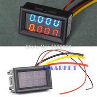 Wholesale DC V V Led Volt Amp Meter Voltage Meter Current Meter Ampere Panel Meter Voltmeter Ammeter Digital TK1212 F