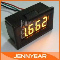 Wholesale quot Digit Digital Volt Meter DC V High Precision Panel Yellow LED DC Digital Voltmeters