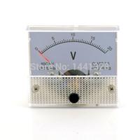 Счетчики Оптовая напряжения 20V DC Аналоговый тестер напряжения Вольт метр панели Вольтметр Gauge 0-20 85C1
