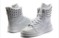 justin boots - Autumn men shoes rivets leather boots Justin Bieber high top men sneakers with height increased and Velcro Casual shoes