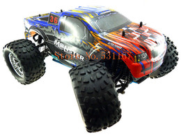 Discount 4x4 trucks Wholesale-HSP Rc Truck 1 10 4wd Nitro Gas Power Off Road Monster Truck Remote Control Car High Speed 4X4 Remote Control Toys