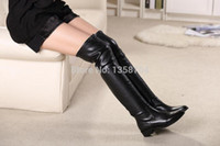 ladies leather boots - genuine leather Brand women knee boots winter motorcycle brand ankle boots heels suede australia ladies long boots women