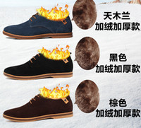 high quality sneakers - autumn winter shoes men leather Suede Big Size men sneakers outdoor casual oxford High Quality warm male shoes RM