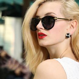 2017 le sport pc Gros-Mode Femmes Lunettes de soleil polarisées Chaîne Cat Eye Sunglasses V26 le sport pc sur la vente