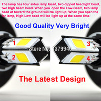 motorcycle headlamp - New Lamp beads LM H4 H6 Hi Lo LED Motorcycle Headlight Bulb Headlamp High Low Conversion Beam Kit