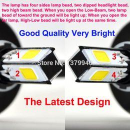 Wholesale New Lamp beads LM H4 H6 Hi Lo LED Motorcycle Headlight Bulb Headlamp High Low Conversion Beam Kit