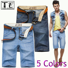 Wholesale-fashion ripped blue black biker skinny true calca bermuda masculina shorts jeans men de marca short jean men's clothing