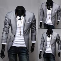 big mens outerwear - Fashion mens suit blazer outerwear Coat slim two button men amp s clothing male blazer suit for men jackets Big size