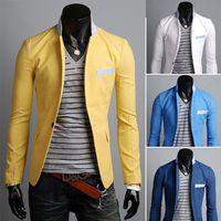 Wholesale New Arrival Fashion Men Blazer Casaco Terno Masculino Suit Cardigan Jaqueta Wedding Suits for Men Candy colors Blazer M304