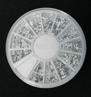 Wholesale Nail Art Silver Moon Rhinestone Crystal Premium Quality Gemstones in different shapes and sizes MY