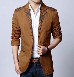 Discount Plaid Brown Mens Suit Jacket | 2017 Plaid Brown Mens Suit