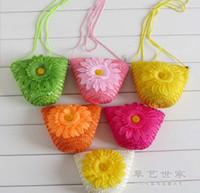 Cheap Wholesale-Straw bags obliquely across the small mobile phone key change beach bag women messenger bags shoulder cheap fashion bags 2015