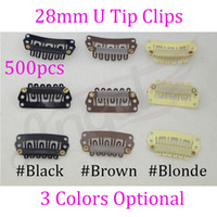 Wholesale Charlie s Angels mm U Tip Snap Human Hair Metal Clips With Silicone Back For Clip In Hair Extensions