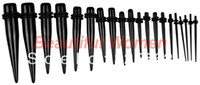 Wholesale New Ear Taper Kit Gauges Expander Set Stretchers mm Black amp Retail