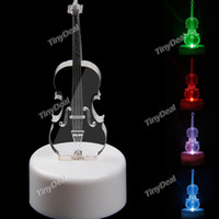 christmas lights color led - Violin Pattern LED Night Light Mini RGB Color Changing LED Flash Light Lamp Xmas Decoration Light Christmas Light Gift