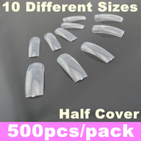 Wholesale Pack Transparent French False Nail Art Tips Half Cover Acrylic Nails Tips
