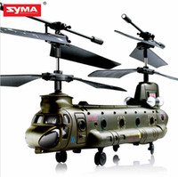 achat en gros de hélicoptères rc mini-micro-Gros-Nouvelle Syma S026G S026 3.5CH infrarouge Mini Micro Chinook helicopter télécommande RC Gyro RTF Kid Gift Toy Livraison gratuite