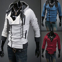 Wholesale Stylish Costumes Men - Wholesale-2015 Stylish Mens Assassins Creed 3 Desmond Miles Costume Hoodie Cosplay Coat Jacket
