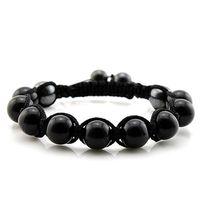 amethyst shamballa bracelet - ST7901 Classic Shamballa Bracelet Black Agate Red Agate Tiger Eye Jade Amethyst Gem Stone Fashion Bracelet amp Bangles New