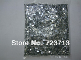 Wholesale-Nail Art Rhinestone 20000pcs pack 1.5mm SS6 Crystal Silver Glitter Clear Color Acrylic Stones Decoration Flat Back for GEL Nails