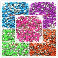 nail studs - MM Square Mix Candy Color D Metal Nail Art Decoration Metallic Rhinestones Nails Studs Nail Art Supplier