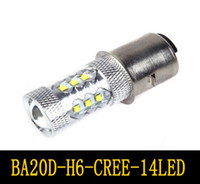 motor scooter - CREE W LED Motor Bike Moped Scooter ATV Headlight Bulb BA20D H6 Car LEDs Lamp Lighting