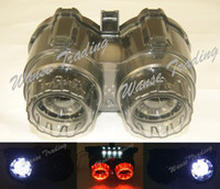Cheap Wholesale-Tail Brake Turn Signals Winkers License Plate Integrated Led Light Red-White For 2009-2015 YAMAHA Zuma BWS X-Over YW 125 YW125
