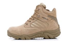 Delta Marca Militar Tactical Botas Desierto Combate Al aire libre Ejército De Excursión De Viajes Botas Zapatos De Cuero De Otoño De Tobillo Hombres Botas Hombre desde bota militar proveedores