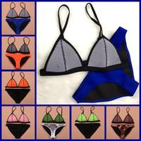 Wholesale 2015 New Fashion Mesh Triangle Swimwear Women Sexy Neoprene Bikini Set Neoprene Swimsuit Biquini