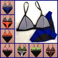 achat en gros de animaux bikini ensemble-2015 Nouveau maillot de bain Triangle maillot de bain femmes sexy bikini néoprène ensemble néoprène maillot de bain Biquini