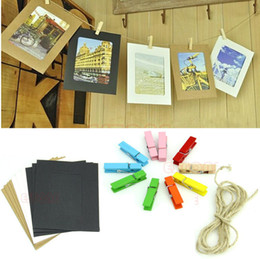 Free Shipping 3Inch Cute Paper Photo Flim Frame Wall Picture Album DIY Hanging Rope Camp